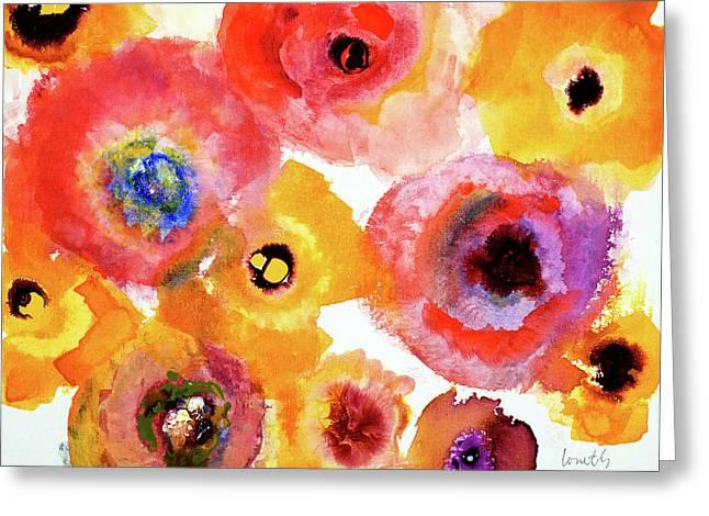 Peachy Floral Greeting Card