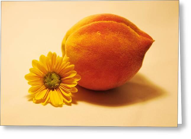 Peachy Greeting Card by Linda Segerson