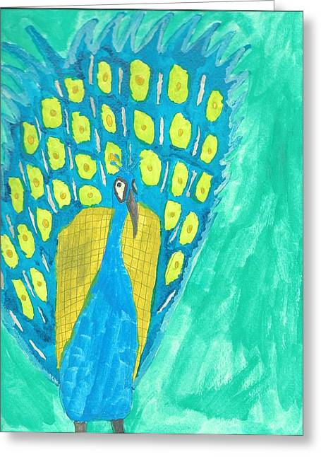 Peacock Greeting Card by Artists With Autism Inc