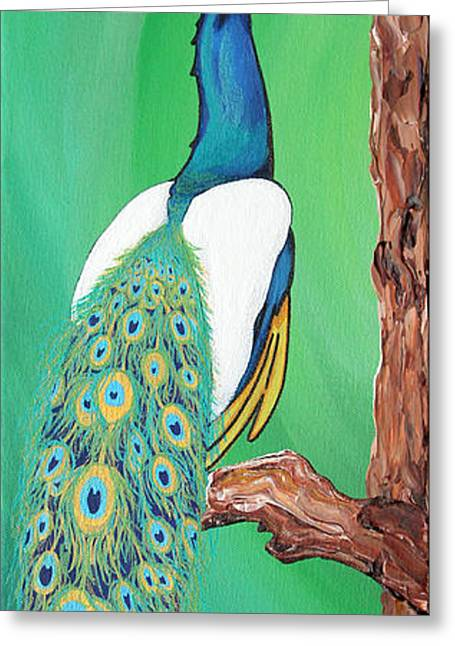 Peacock Greeting Card by Carlos Martinez