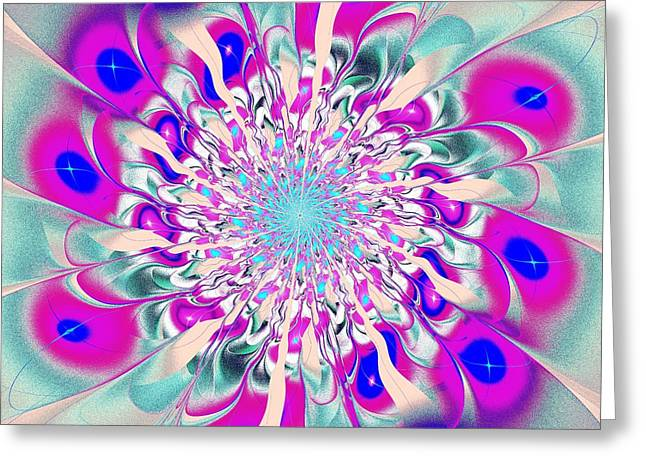 Peacock Flower Greeting Card by Anastasiya Malakhova