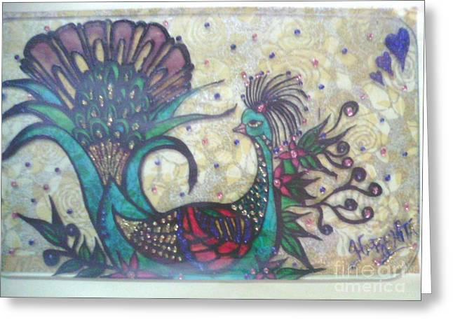 Peacock Goes Classy.. Greeting Card by Harshita Chawla