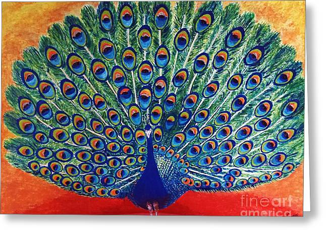 Peacock By Jasna Gopic Greeting Card