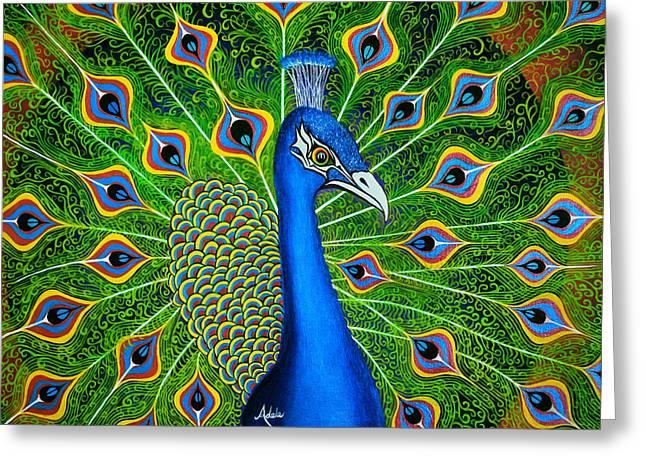Peacock Splendor Greeting Card
