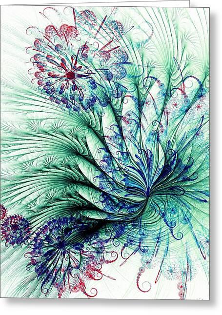 Peacock Tail Greeting Card by Anastasiya Malakhova
