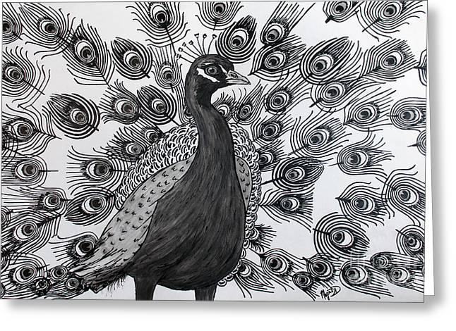 Peacock Walk Greeting Card