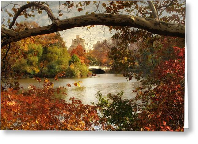 Peak Autumn In Central Park Greeting Card