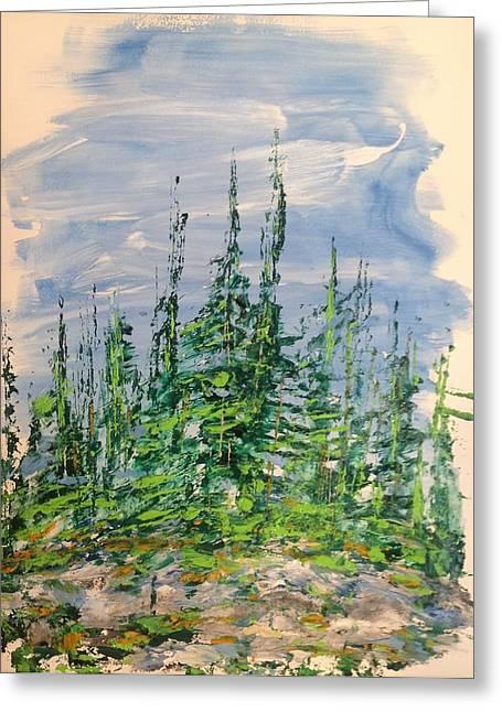 Peak Of Pines Greeting Card