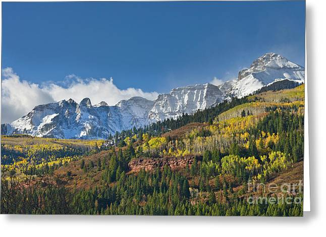 Peaks After First Snow Rockies Greeting Card by Yva Momatiuk John Eastcott