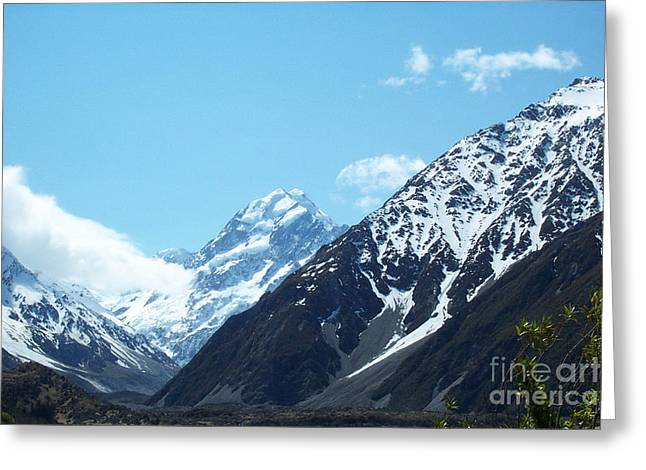 Peaks Of New Zealand Greeting Card
