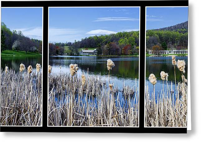 Peaks Of Otter Lodge Triptych Greeting Card