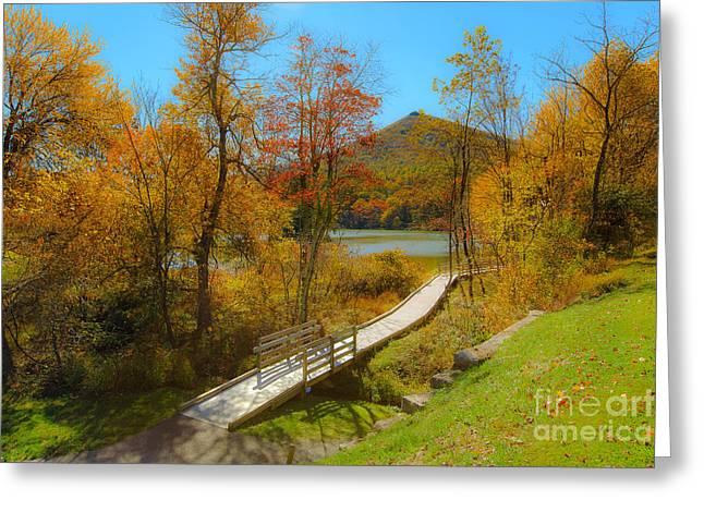 Peaks Walk Greeting Card by Mark East