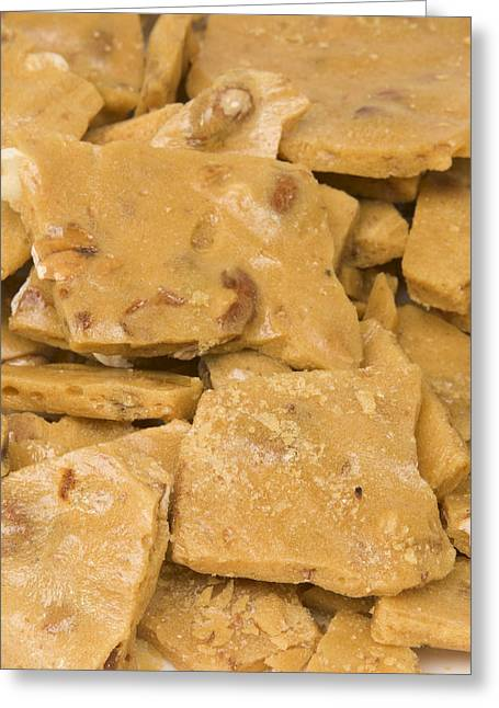Peanut Brittle Closeup Greeting Card by Vizual Studio