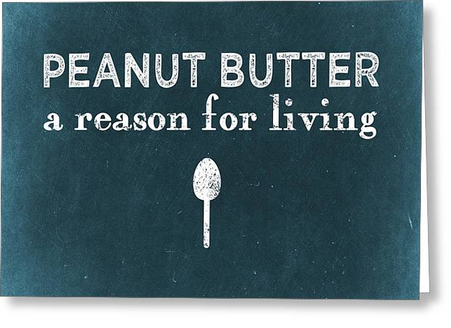 Peanut Butter Greeting Card by Flo Karp