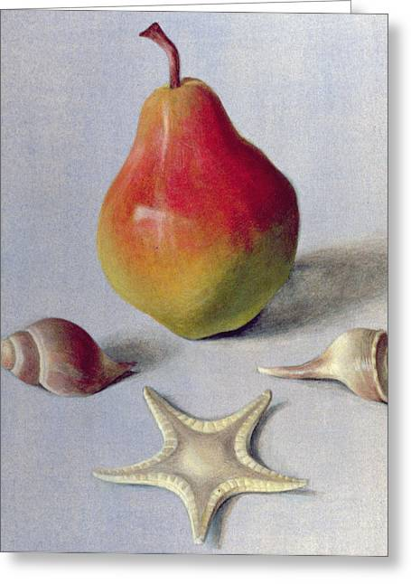 Pear And Shells Greeting Card