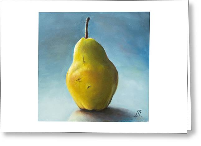 Pear Greeting Card by Anna Abramska