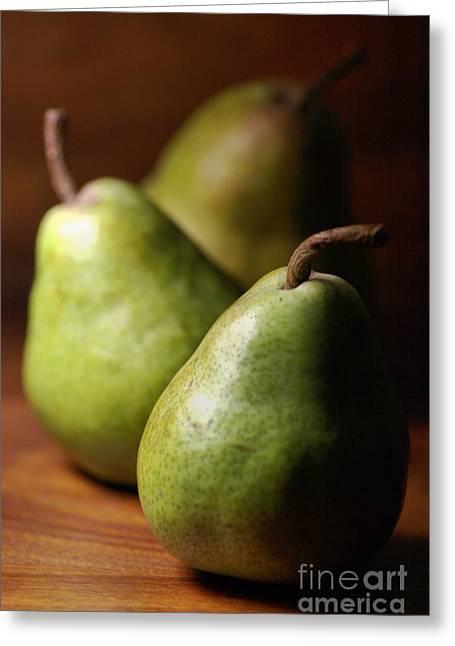 Pear Delight Greeting Card by Joy Watson