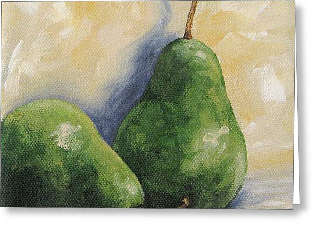 Pear Duet Greeting Card