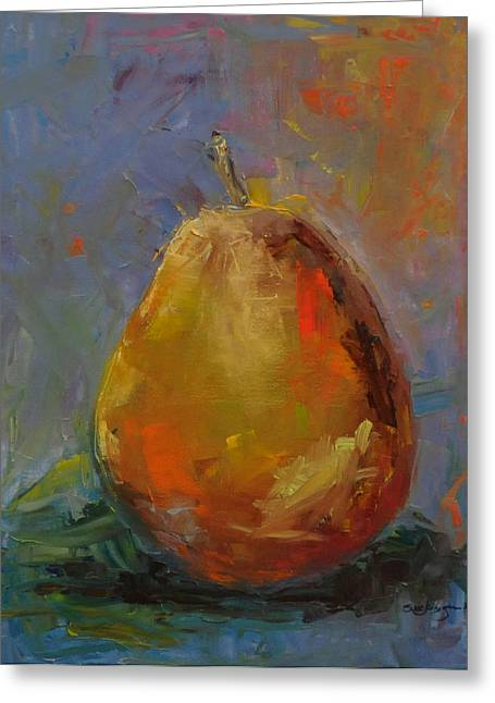 Pear For Becky Greeting Card by Susie Jernigan