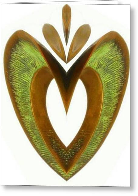Pear Heart Greeting Card