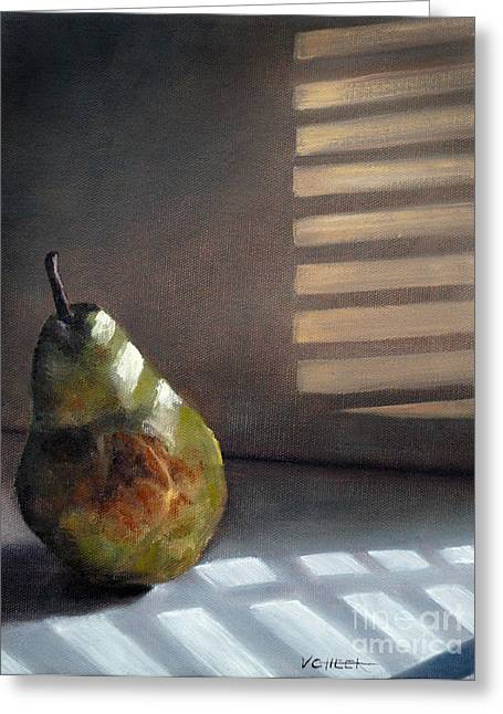 Pear In Morning Light Greeting Card