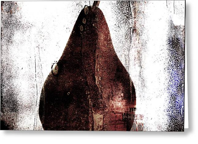Pear In Window Greeting Card by Carol Leigh