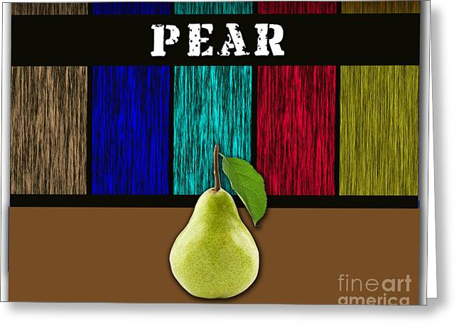 Pear Greeting Card by Marvin Blaine
