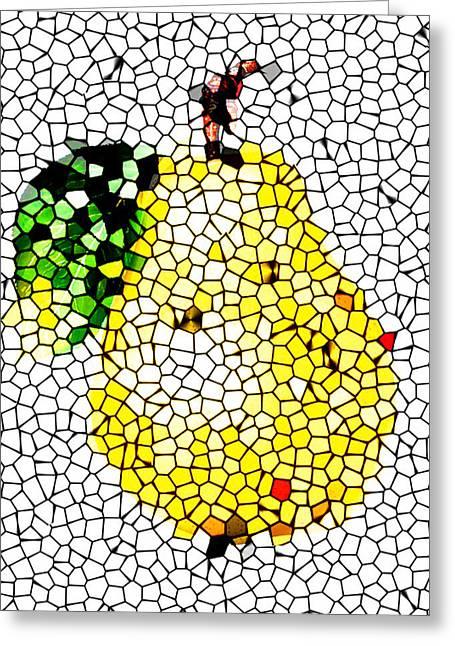 Pear Mosaic Greeting Card