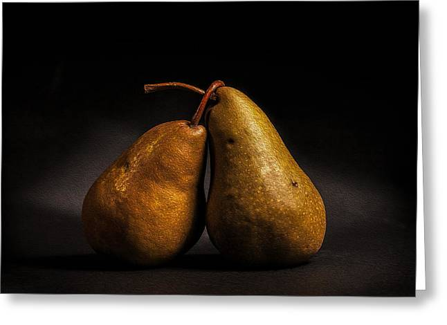 Pear Of Lovers Greeting Card by Peter Tellone