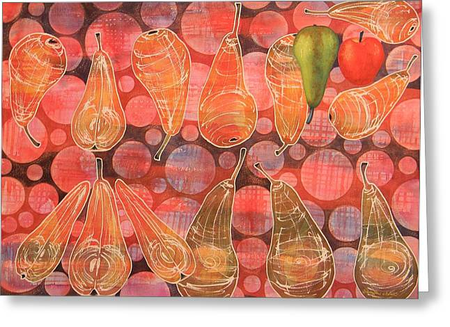 Pear Sphere Greeting Card by Adel Nemeth