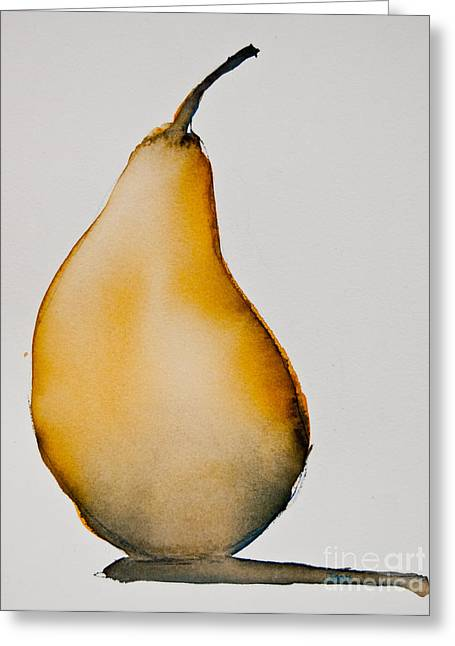 Pear Study Greeting Card by Jani Freimann