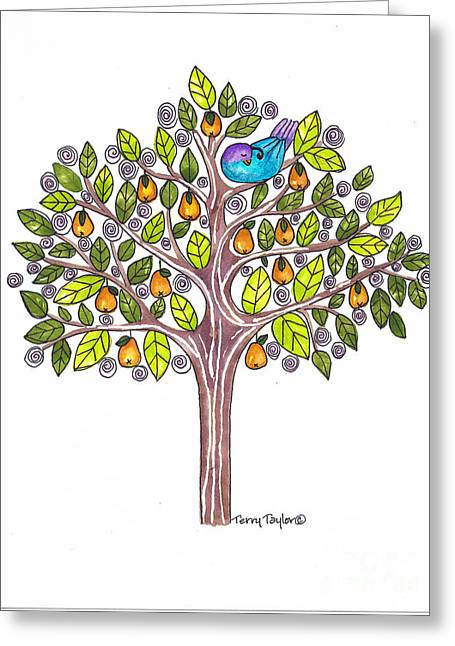Pear Tree Greeting Card