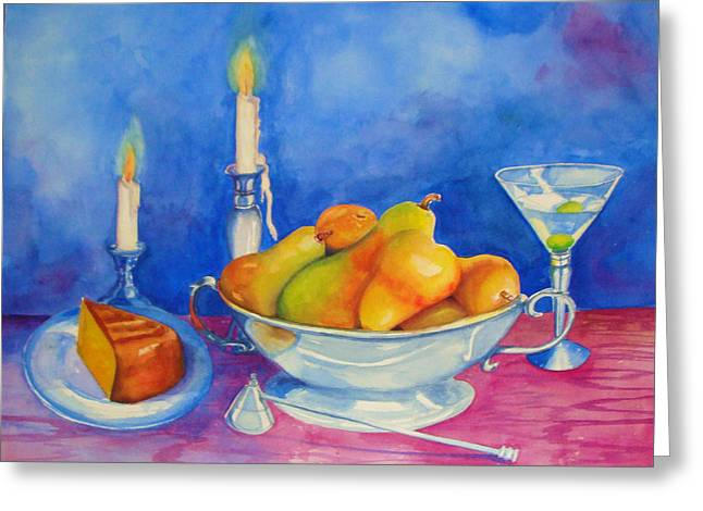 Pearis By Candlelight  Greeting Card
