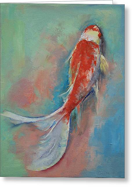 Pearl Banded Koi Greeting Card