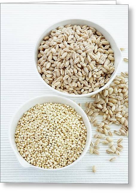 Pearl Barley And Quinoa Seeds Greeting Card