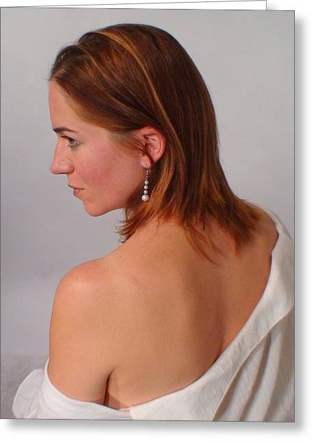 Pearl Earring Greeting Card