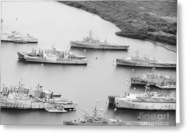 Pearl Harbor Battleships Greeting Card