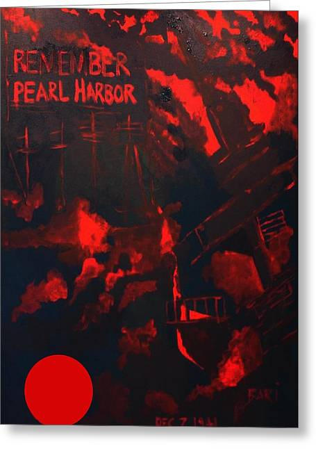 Pearl Harbor Oahu Greeting Card by Bari Demers