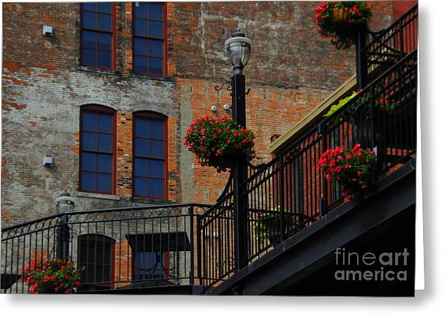Pearl Street Grill Greeting Card by Kathleen Struckle