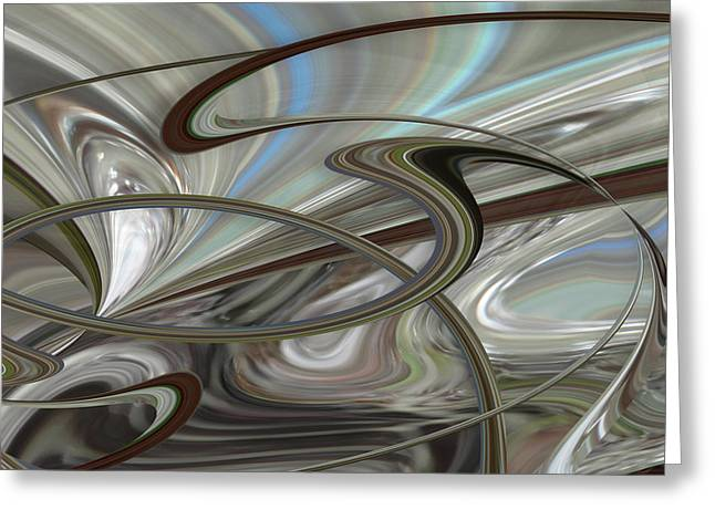 Pearl Swirl Greeting Card by Ginny Schmidt