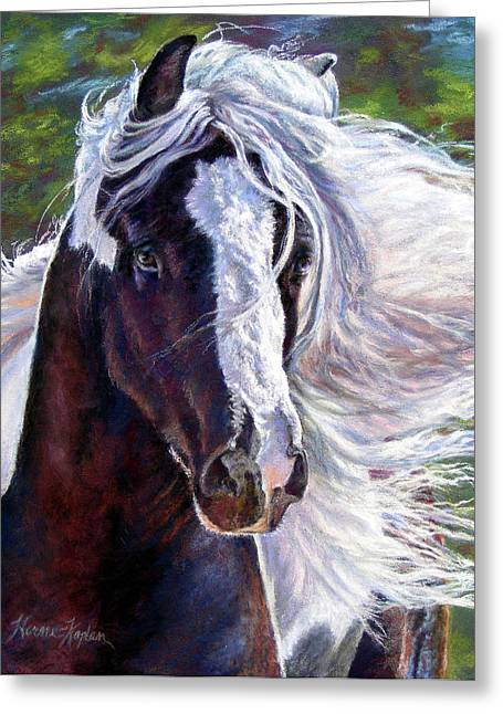 Pearlie King Gypsy Vanner Stallion Greeting Card