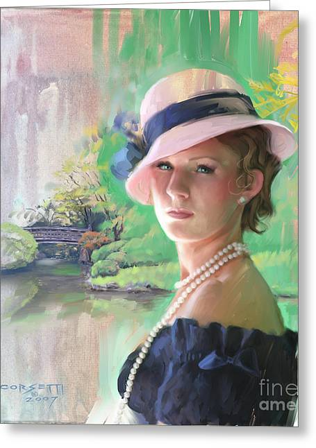 Pearls And Pink Greeting Card