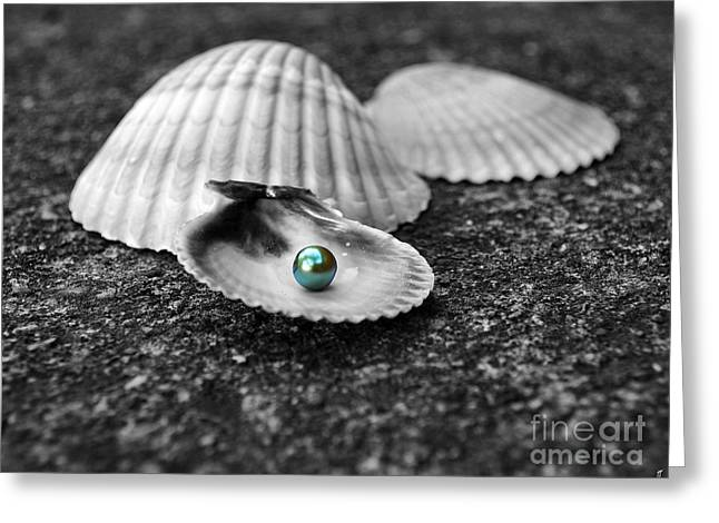 Pearls Of Wisdom I Greeting Card by Jai Johnson