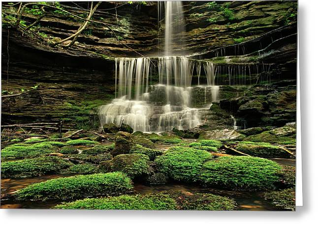 Pearly Creek Falls Near Buffalo River Greeting Card