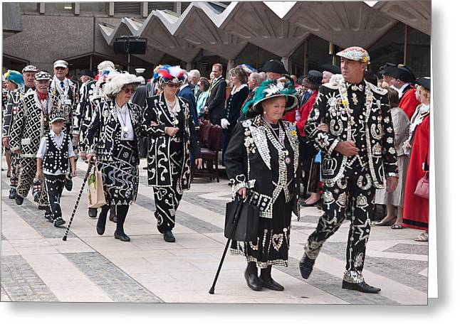 Pearly Kings And Queens Parade. Greeting Card