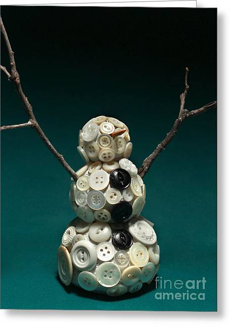 Pearly Snowman Christmas Card Greeting Card by Adam Long