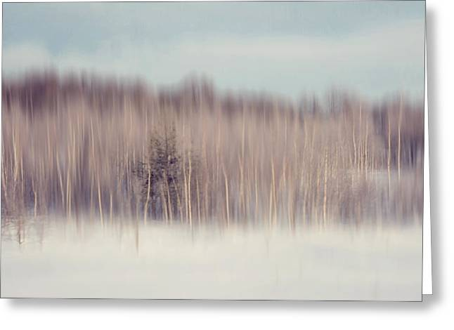 Pearly Winter. Impressionism Greeting Card by Jenny Rainbow