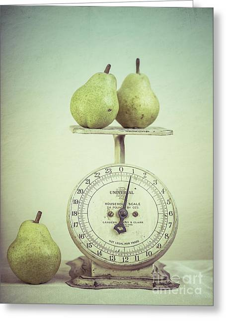 Pears And Kitchen Scale Still Life Greeting Card