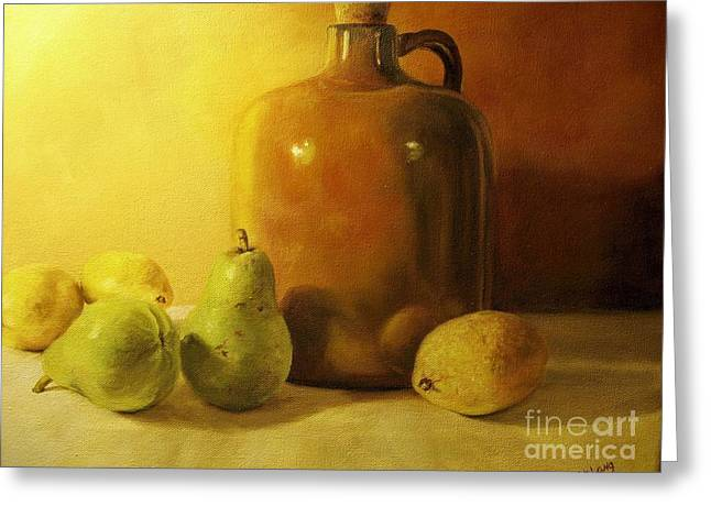 Pears And Lemons Greeting Card