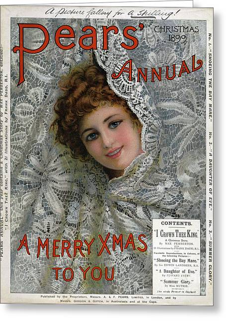 Pears Annual 1899 1890s Uk Cc Christmas Greeting Card by The Advertising Archives